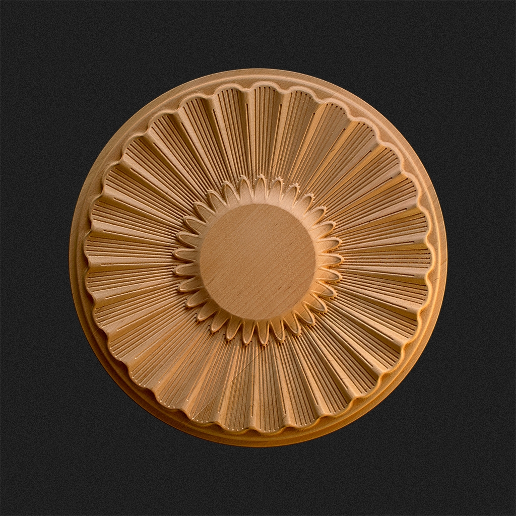 Holzrosette rund/oval R3 - KWASNY CARVINGS