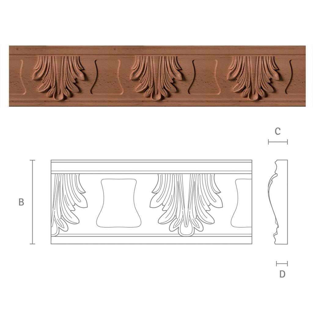 zierleisten f r m bel mit akanthus motiv gr3 kwasny carvings. Black Bedroom Furniture Sets. Home Design Ideas